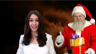Ilze Be and Santa Claus